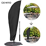 GEMITTO Parasol Cover, Extra Large Umbrella Cover with Zip, Weatherproof Outdoor Umbrella Cover Cantilever Banana Garden Protector With Storage Bag