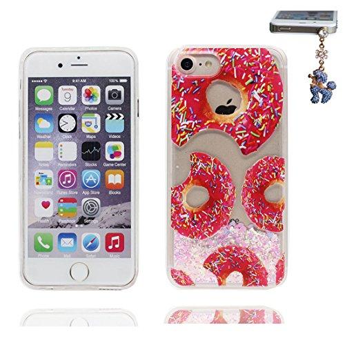 """iPhone 6S Coque, Skin Hard Clear étui iPhone 6 / 6S, Marguerites- Design Glitter Bling Sparkles Shinny Flowing iPhone 6 Case Shell Cover 4.7"""", résistant aux chocs et Bouchon anti-poussière # 4"""