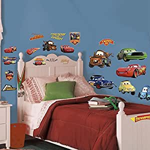 Sticker Disney Cars Piston Cup Roommates Repositionnables (19 Stickers) - Vinyle