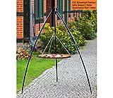 BlackOrange XXL Schwenkgrill 200 cm mit XXL Grillrost Ø 100 cm aus Stahl