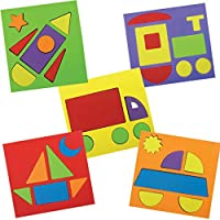 Imagimake Make With Shapes Activity Kit And Puzzle (2 Years +) To Learn Shapes, Sizes And Fine Motor Skills, Vehicle Theme, 8 mm Foam (Multicolor)