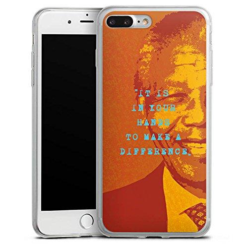 Apple iPhone X Slim Case Silikon Hülle Schutzhülle Mandela Veränderung Leben Silikon Slim Case transparent