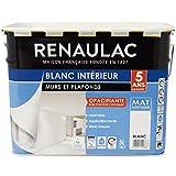 Renaulac Peinture intérieur Murs & Plafonds Bicouche Acrylique Blanc Mat...