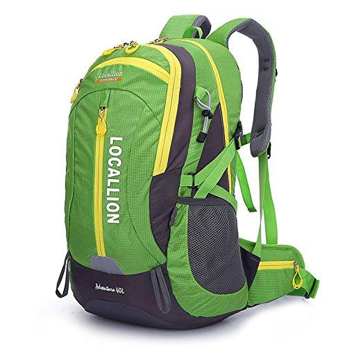 Outdoor-Bergsteigen Tasche große Kapazität Rucksack Rucksack Männer und Frauen zu Fuß wasserdicht Green