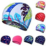CSU Unisex Printed Designs Lycra Highly Comfortable and Stretchable Swimming Cap