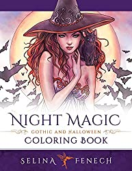 Night Magic - Gothic and Halloween Coloring Book: Volume 10 (Fantasy Coloring by Selina)