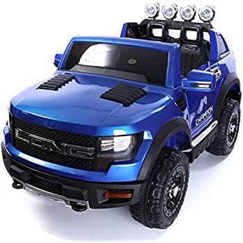 Ricco Licensed Ford Ranger Black 4x4 Kids Ride on Car with
