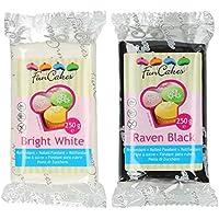Funcakes - 2 X Paquetes de Fondant/Pasta de azucar de 250g (Blanco y