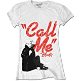 Ladies Blondie Call Me Debbie Harry Punk Rock Official Tee T-Shirt Womens Girls (Small)