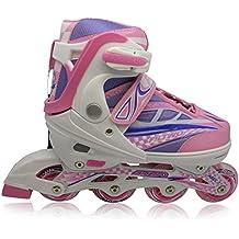 Patines en línea con Luces que se encienden en las ruedas para niños y adolescentes - Rosa - Talla M (33-36)