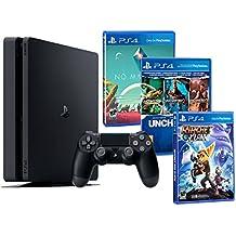 PS4 1TB Playstation MEGA PACK FAMILIAR de 5 Juegos: Ratchet & Clank, Uncharted Collection (3 en 1) y No Man's Sky