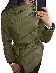 RETUROM nueva manera del estilo de las mujeres abrigo de invierno cálido Outwear la chaqueta de manga larga irregular