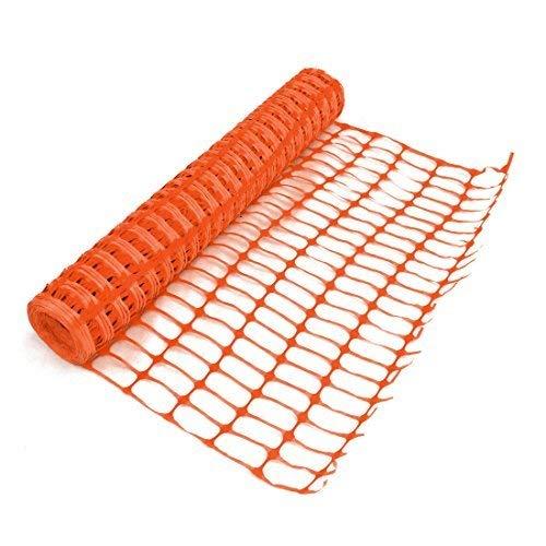 True Products B1003C 4kg 1m x 50m Standard Plastique en maille filet de sécurité Barrière Clôture Rouleau-Orange (1pièce)