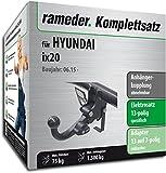 Rameder Komplettsatz, Anhängerkupplung abnehmbar + 13pol Elektrik für Hyundai ix20 (148434-09045-1)