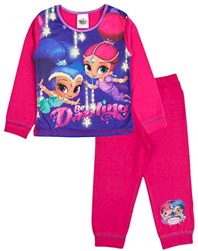 Shimmer & Shine Mädchen Schlafanzug rosa Rose 4 Jahre Gr. 92, Be Dazzling (Disney Princess Christmas Pyjamas)