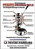 La Pavoni Dichtung/Dichtungssatz komplett für Handhebelgeräte mit 5g Silikonfett