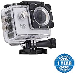 Drumstone 1080P 12Mp Car Bike Helmet Cam Sports Dv Action Waterproof Camera Works with all Android or Iphone Devices (1 Year Warranty, Color May Vary)