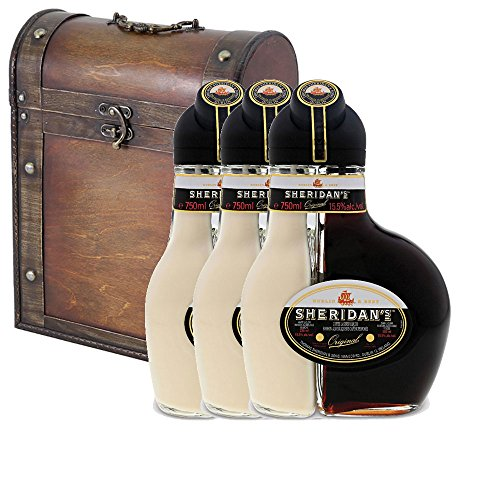 9f4242f770e5d 3 x Sheridans Cream Liqueur 50cl Bottles in Antique Style Gift Box with  Hand Crafted Gifts2Drink