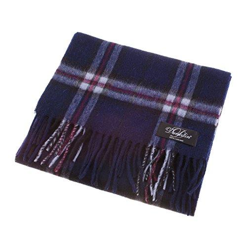 dunedin-100-lambswool-unisex-scottish-tartan-multicolor-scarf-thomson-navy-one-size