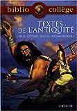 Textes de l'Antiquité - Bible, Odyssée, Enéide, Métamorphoses