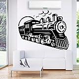 Tren Retro Vinilo Etiqueta de La Pared Tatuajes de Pared Para la Sala de estar Niños Accesorios de Decoración de Pared Decoración Pegatinas MuralL 58 cm X 73 cm