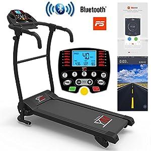 YM Tapis Roulant Elettrico Pieghevole 11 km/h, App KINOMAP & ZWIFT Coaching/Video, Sensore Cardio, Inclinazione… 5 spesavip