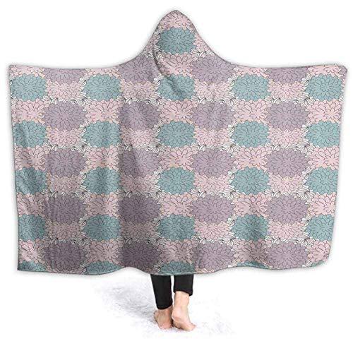 NE Decken mit Kapuze Decke Muffin Silhouette Zitat tragbare Kapuze Decke für Kinder Erwachsene 50W von 40H Zoll (mit Kapuze)