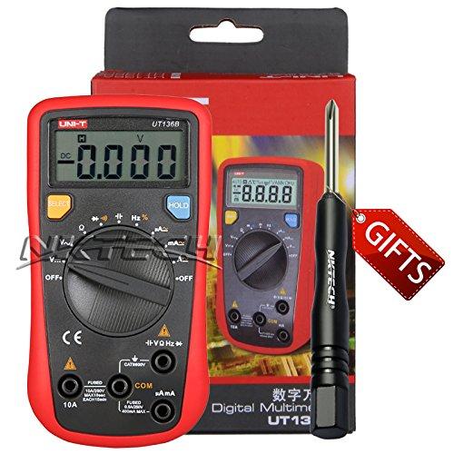 Preisvergleich Produktbild nktech tl-1Schraubendreher Uni-T UT136B Auto Range Digital Multimeter AC DC Spannung Strom Kapazität Frequenz Widerstand Tester Meter Kit Sonden Zweikomponenten