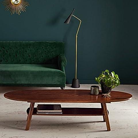 Table basse en bois finition noyer 160 MILO