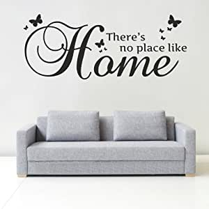 iClobber There's No Place Like Home Butterfly Wall Art Mural Sticker Vinyl Art Med Cream