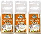 Erdschwalbe Bio Backmischung Flammkuchen-/Pizzateig Glutenfrei - Reduzierter Kohlenhydratgehalt, 3er Pack (3 x 150 g)