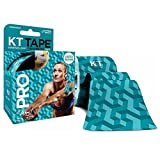KT Tape Pro Elastic Kinesiology Therapeutic - 20 Pre-Cut 10-Inch Strips - 20 Strips Aquaduct