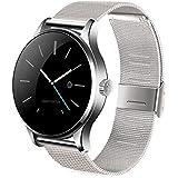 Joyeer Smart Watch Actividad Tracker Reloj de pulsera Bluetooth Smartwatch Monitor de ritmo cardíaco Pedómetro Dialing Business Watch Para Android IOS , silver