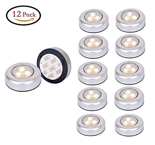 iebetriebenen Wireless Aufklebbarer Touch Armatur Lampe Push Light LED-Nachtlicht für Schränke, Dachböden, Garagen, Auto, Schuppen, Abstellraum,Warmweiß (Touch-lampen)