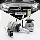 2017 Newest Loutsbe H7 LED Headlight Bulbs, 80W 8000lm 6500K Cool White CREE LED, Conversion Kit With Perfect Beam Lighting Pattern and Replace for Halogen Lamps - 1 Year Warranty