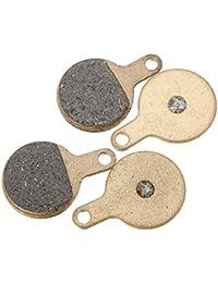 Bazaar 2 paires de plaquettes de frein à disque bicyclette de vélo frittage céramique métallique semi tektro iox