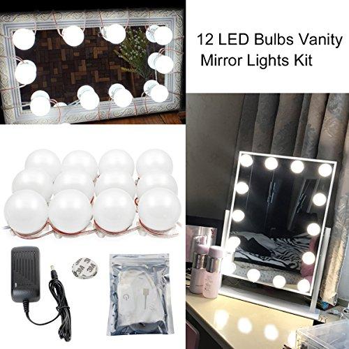 Binen Hollywood Stil LED Kosmetikspiegel Kit Schminktisch Licht, Spiegel LED-Licht mit Netzteil und Touch Dimmer(Spiegel nicht...