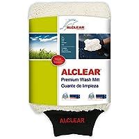 ALCLEAR 950013WH Guante de microfibra para lavar el coche con jabón: mejor que una esponja para lavar el coche, trapo abrillantador o gamuza de microfibra; para coches, motos