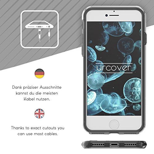 "Urcover Apple iPhone 6 Plus / 6s Plus ""Touch Case 2.0"" [Upgrade Juni 2017] 360 Grad Rundum-Schutz Full Cover [unbreakable Case bekannt aus Galileo] Crystal Clear Full Body Case Handy-Tasche Schale Han Schwarz"