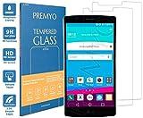 PREMYO 2 Stück Panzerglas für LG G4 Schutzglas Display-Schutzfolie für LG G4 Blasenfrei HD-Klar 9H 2,5D Echt-Glas Folie kompatibel für LG G4 Gegen Kratzer Fingerabdrücke