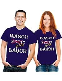 Funshirt Waschbärbauch T-Shirt dunkelblau