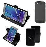 360° Schutz Hülle Smartphone Tasche für Cat S60, schwarz