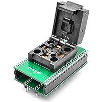 allsocket qfp48–0.5qfp48tqfp48qfp48a dip48programación adaptador fpq-48–0.5–060.5mm Pitch 7x 7mm IC adaptador de soldadura versión de concha de dimensión (qfp48–0.5-acl)