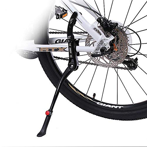 Roebii Fahrrad Seitenständer, Fahrradständer Aluminiumlegierung Einstellbare Fahrradfußstütze, Mountainbike Fahrrad Fahrrad Fahrradständer Gummi Fußstütze Werkzeugteil Zubehör