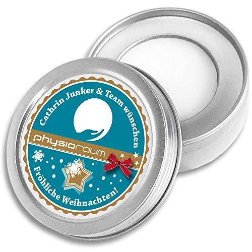 DOCTORS Lip Balm, 1000 St. | Werbeartikel mit Druck | Lippen-Pflege in Metalldose | Werbegeschenke mit Logo | Werbemittel Weihnachten (1000)