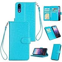 Shinyzone Huawei P20 Brieftasche Hülle mit 9 Kartenfach,Luxus Premium PU Standfunktion mit Handschlaufe und Magnetverschluss... preisvergleich bei billige-tabletten.eu