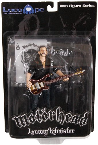 "Preisvergleich Produktbild Motorhead Lemmy Kilmister 7"" Icon Figure Rickenbacker Guitar Dark Wood"