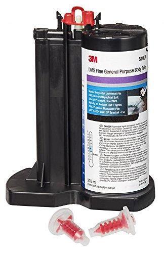 3MTM Premium Spachtel-Kartusche DMS Universalspachtel Soft, gut verstreichbar und lange verarbeitbar; inkl. 2 Mischdüsen, 276 ml