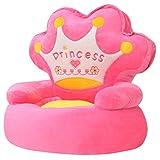 Festnight Plüsch-Kindersessel Sessel Babysessel Kindermöbel 53 x 48 x 50 cm für Spielzimmer oder Kinderzimmer - Prinzessin Rosa
