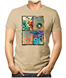 PRILANO Herren Fun T-Shirt - MUSIC-90ER - 4XL - Khaki